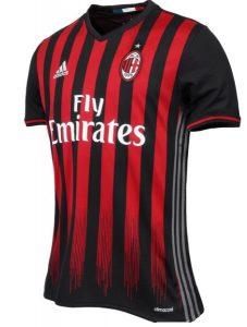 Casa AC Milan camisetas equipaciones 2016 2017 - Cuáles son los modelos de camisetas de futbol para equipos de la Serie A 2016 – 2017