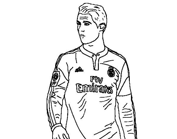 Dibujos de futbol para colorear: dibujos de jugadores de futbol y ...