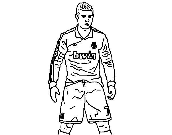 Dibujos De Futbolistas Famosos Para Colorear: Dibujos De Futbol Para Colorear: Dibujos De Jugadores De