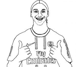Ibrahimovic para dibujar y colorear