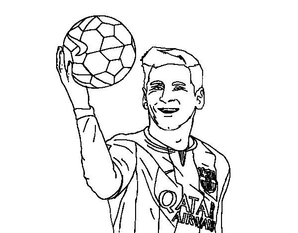 Dibujos de futbol para colorear: dibujos de jugadores de futbol y