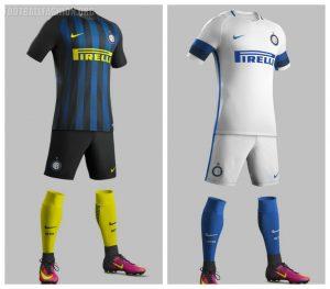 Equipacion de Casa y Visitante Inter de Milan camisetas 2016 - 2017