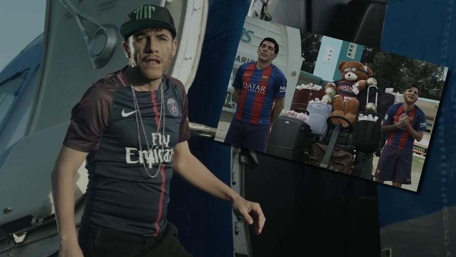 Parodia de Neymar camino al PSG
