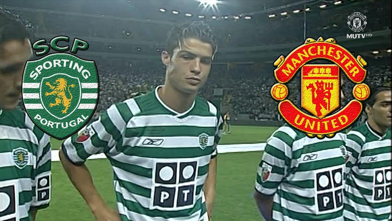Cristiano Ronaldo cuando tenia 17 años y sorprendió al Manchester United
